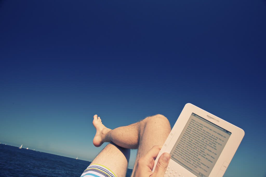 Kindle am Strand