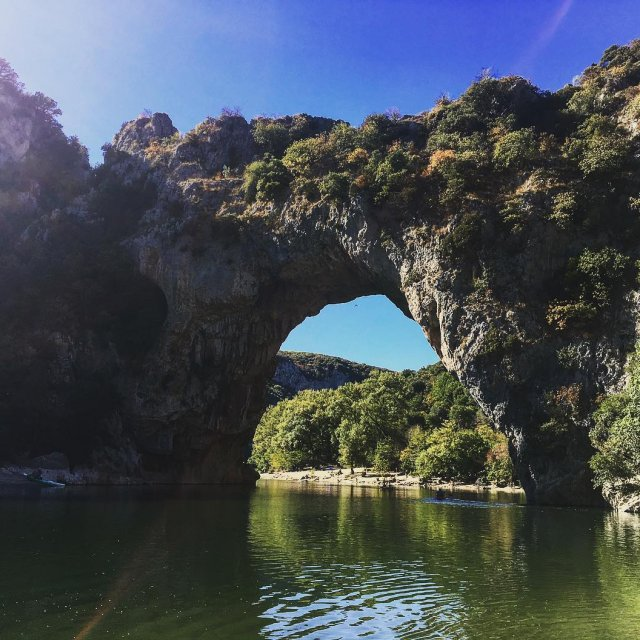The beautiful Pont dArc at ardeche france fuckingferweh goodtimes