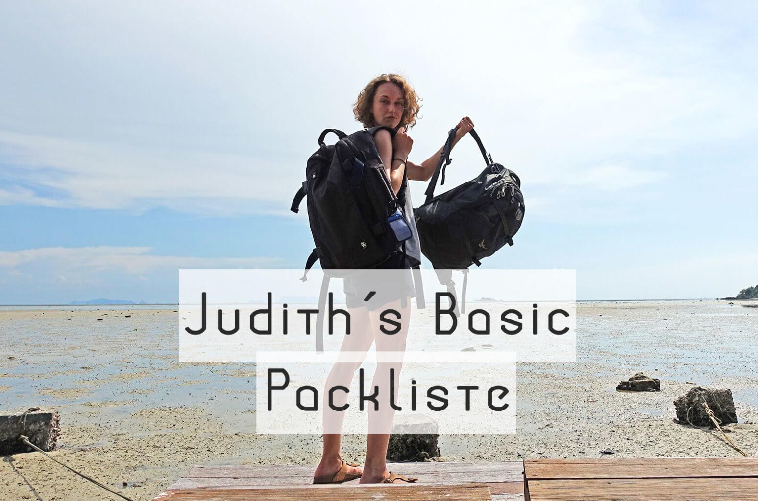 Judiths Basic Packliste