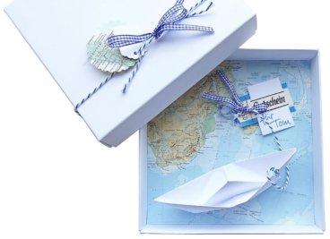 Reise Geschenk Gutscheinbox