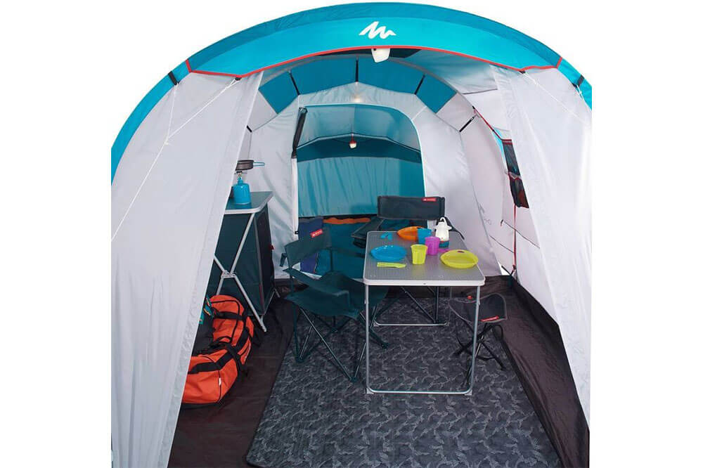 familienzelt quechua arpenaz test und preisvergleich. Black Bedroom Furniture Sets. Home Design Ideas