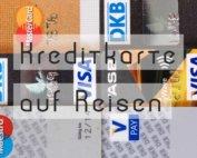 kreditkarte auf reisen