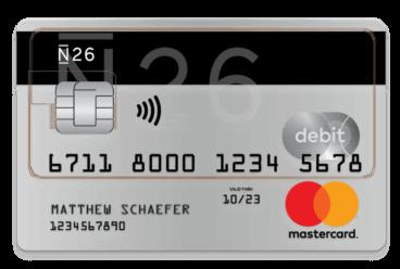 N26 kostenlose Kreditkarte