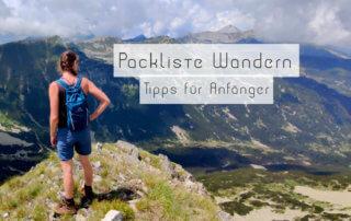Packliste Wandern Tipps