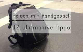 Reisen nur mit Handgepäck