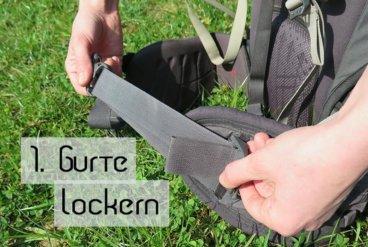 Rucksack Einstellen 1