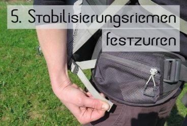 Rucksack Einstellen 5