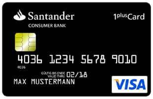 Santander 1Plus kostenlose Kreditkarte