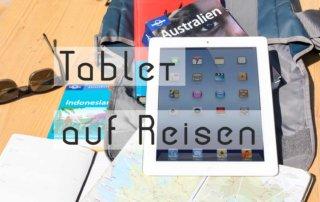 Tablet auf Reisen